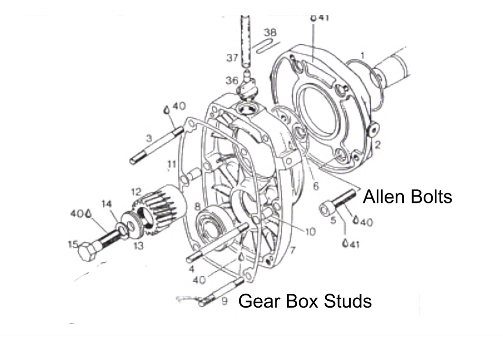 Rotax A Drive Gear Box Drive Removal Procedure For Rotax 377 447