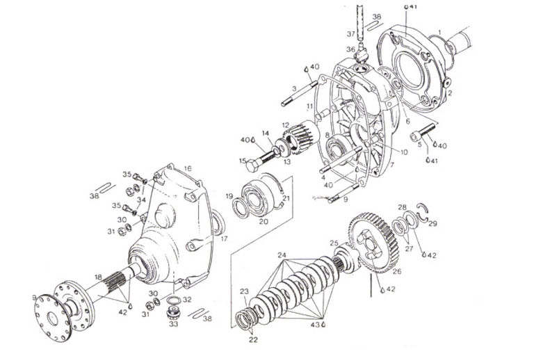 rotax a gear drive box parts diagram rotax a gear box drive part numbers
