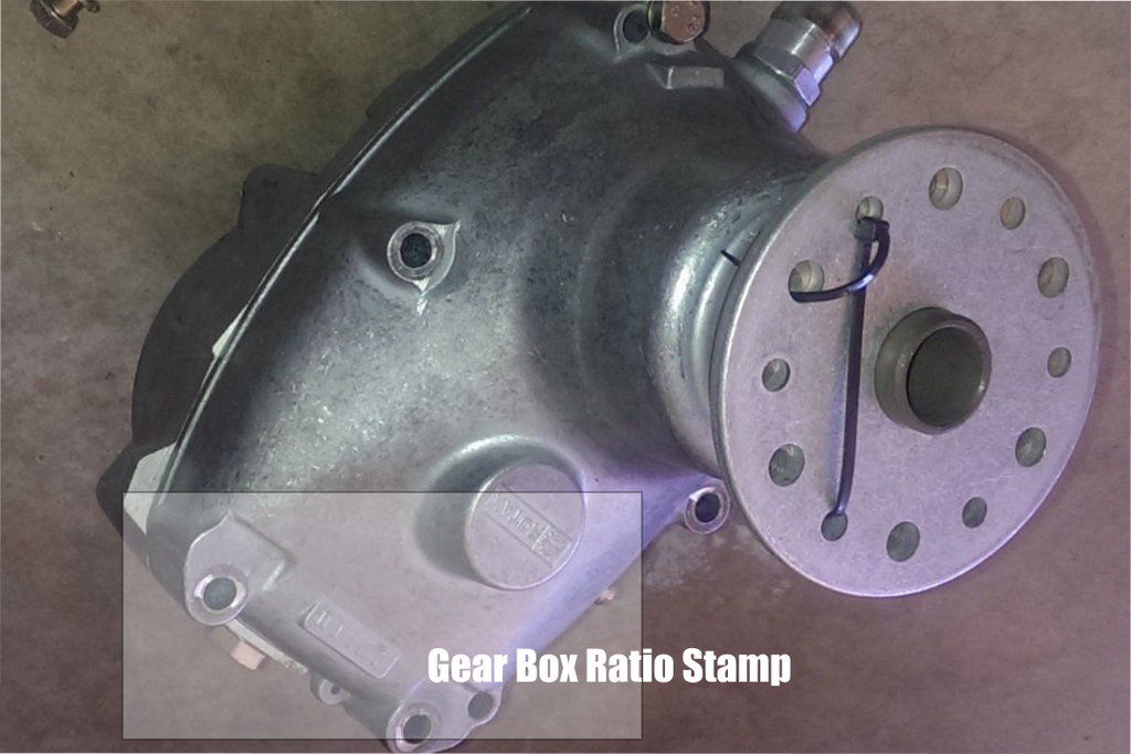 rotax b drive gearbox ratio stamp