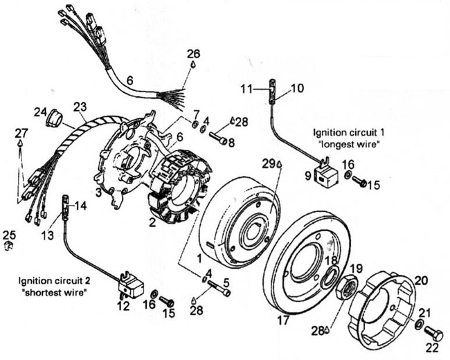 Rotax 582 Ducati Ignition Rotax 582 Ducati Magneto Generator Parts