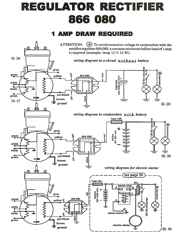 Ducati Wiring diagram - for charging system - load required