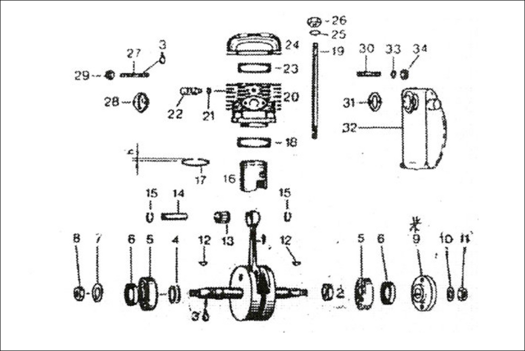 Rotax 185 Cc Aircraft Engine And Mago Parts Diagram