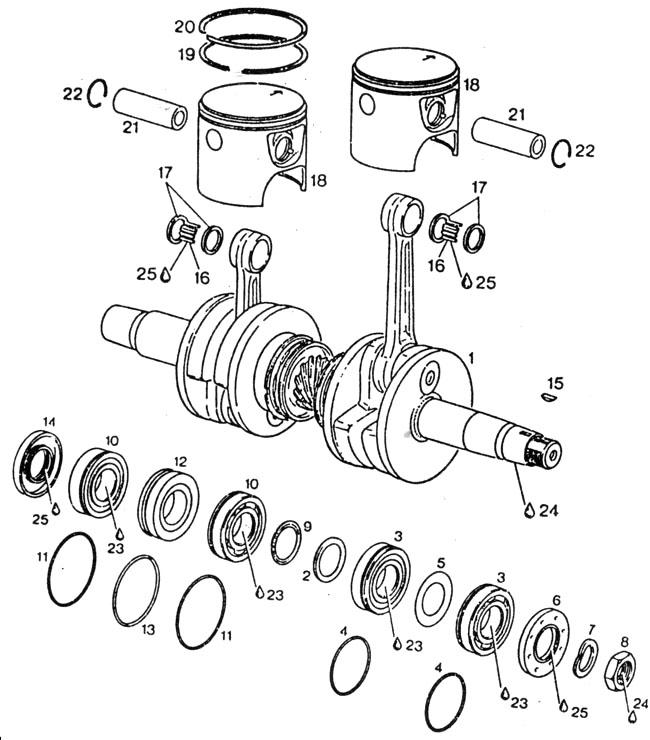 Rotax 532 Pistons Rotax 532 Crankshaft Rotax 532 Rings Rotax 532